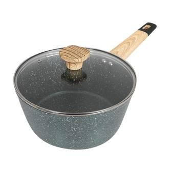 Concord Art of Cooking 3Qt Granite Nonstick Coated Cast Aluminum Pot with Lid Saucepan Induction Compatible Forest Green  - Size: 1