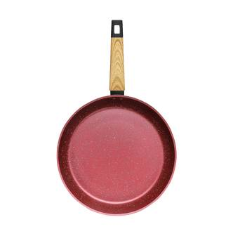 "Concord Art of Cooking 12"""" Granite Nonstick Coated Cast Aluminum Frying Pan Induction Compatible #Canyon Red  - Size: 1"