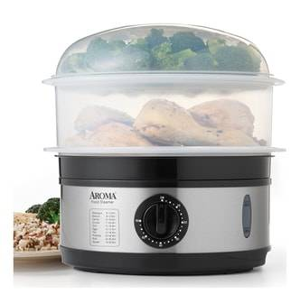 AROMA 5-Qt Stainless Steel Food Steamer, AFS-186, 2 Year Manufacturer Warranty  - Size: 1