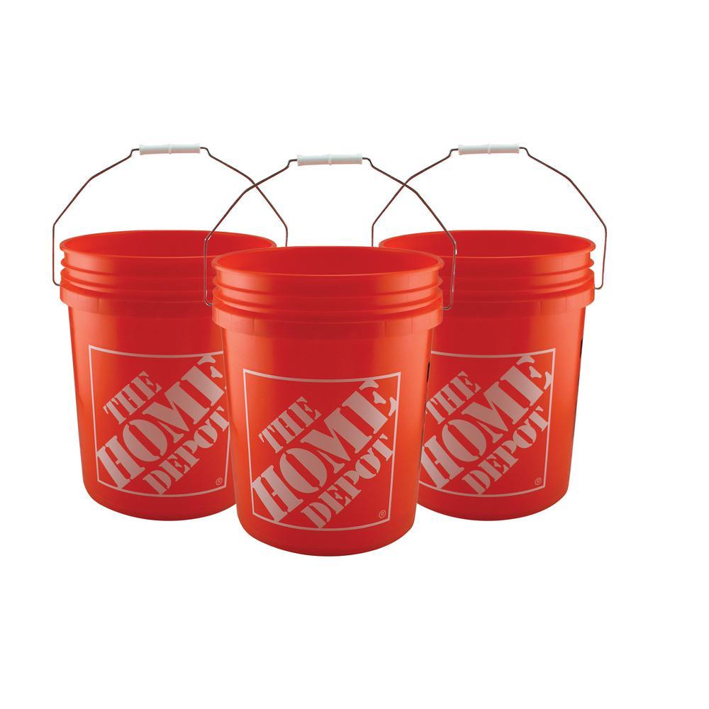 The Home Depot 5 gal. Homer Bucket (100-Pack), Orange