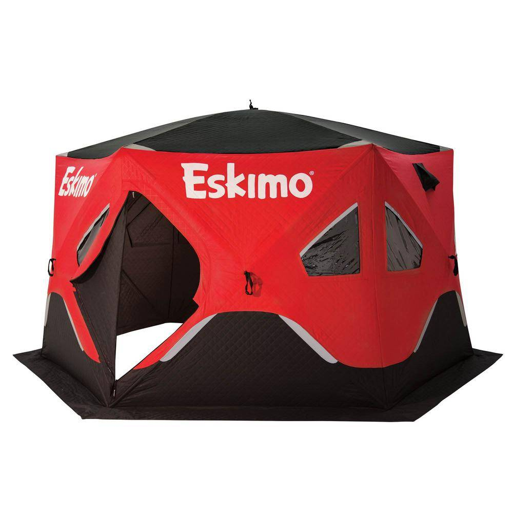 Eskimo FatFish 6120i Insulated 5-Person to 7-Person Pop Up Ice Fishing Shelter Hut