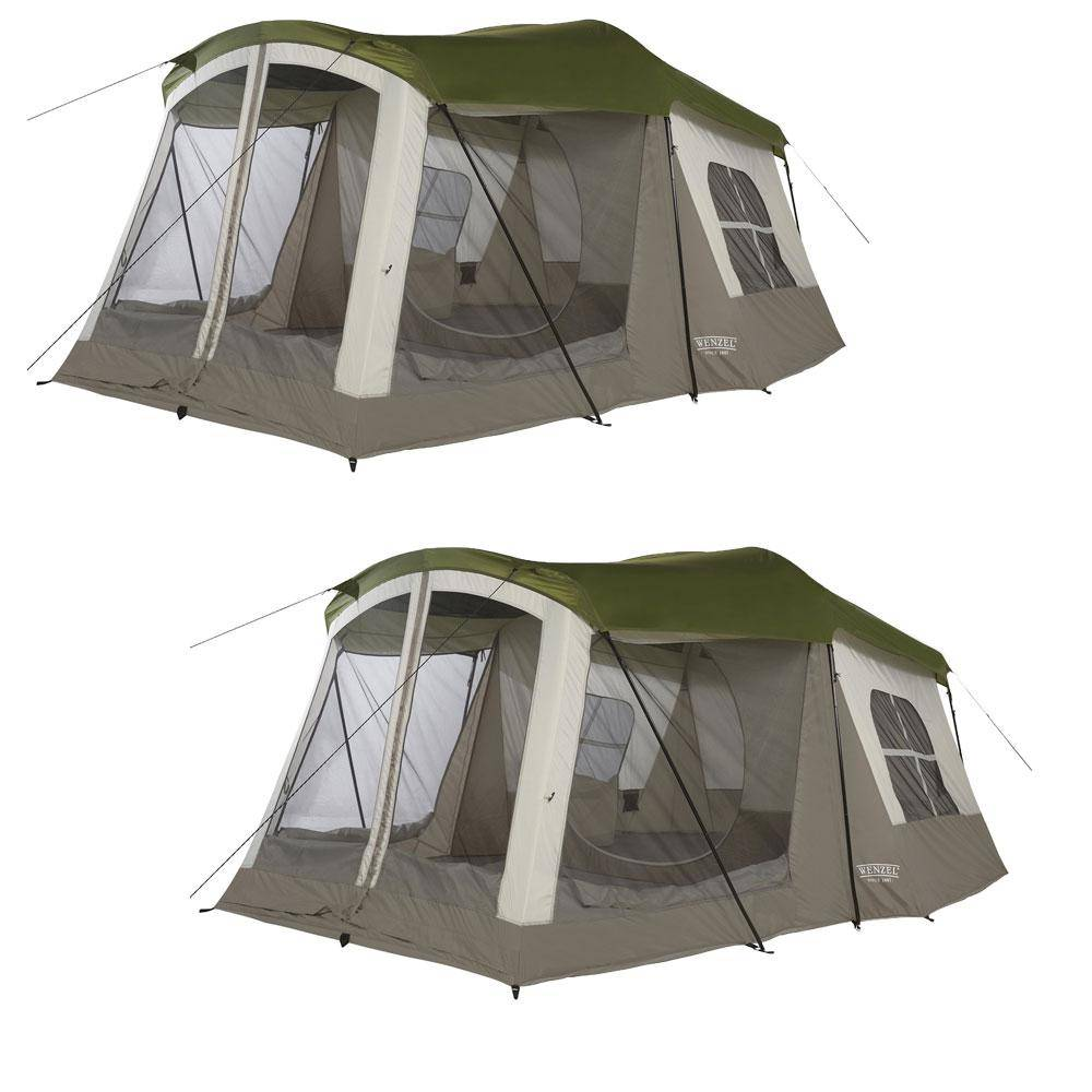 Wenzel Klondike 16 ft. x 11 ft. 8-Person 3 Season Screen Room Camping Tent (2-Pack)