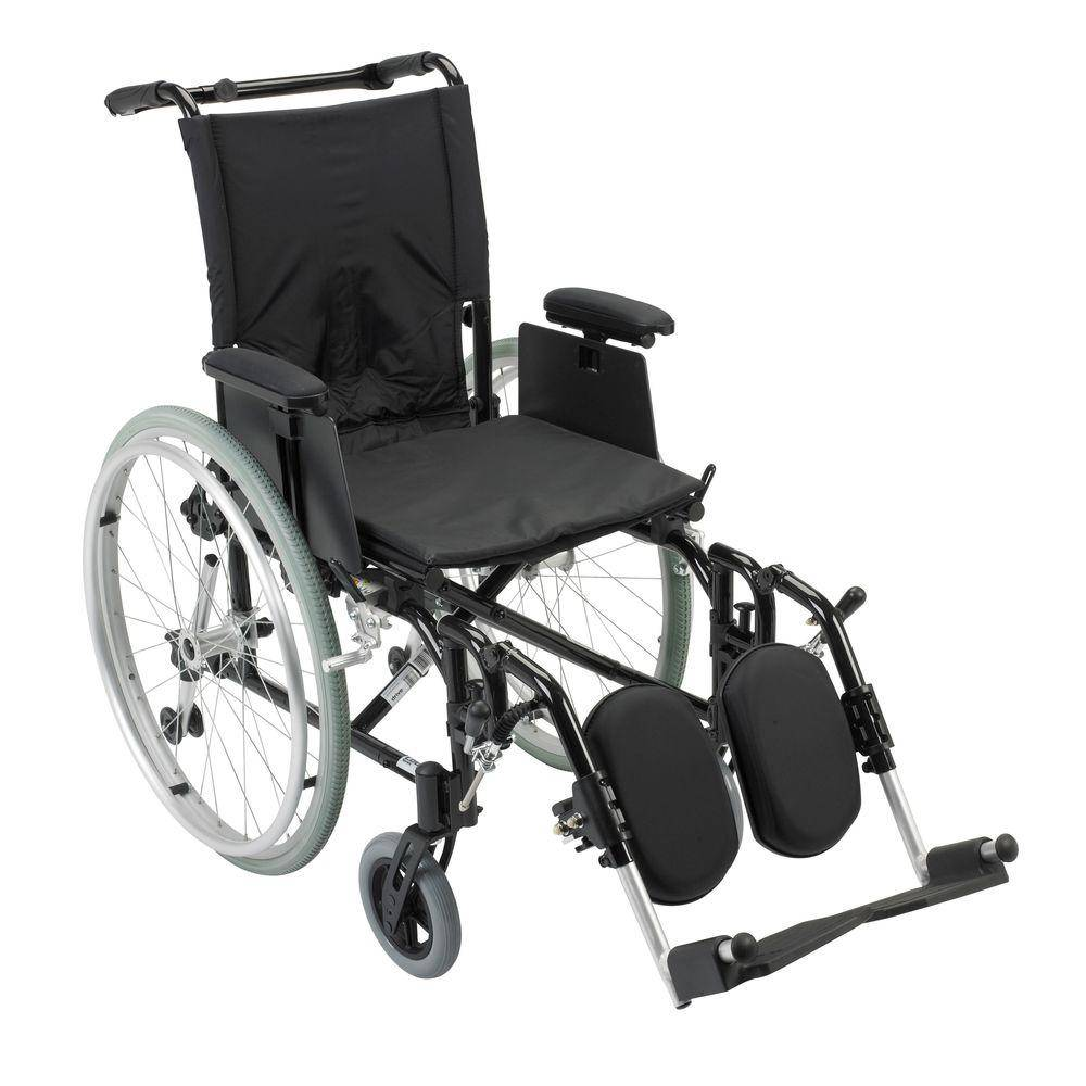 Drive Cougar Ultra Lightweight Rehab Wheelchair with Detachable Adjustable Desk Arms and Elevating Legrest