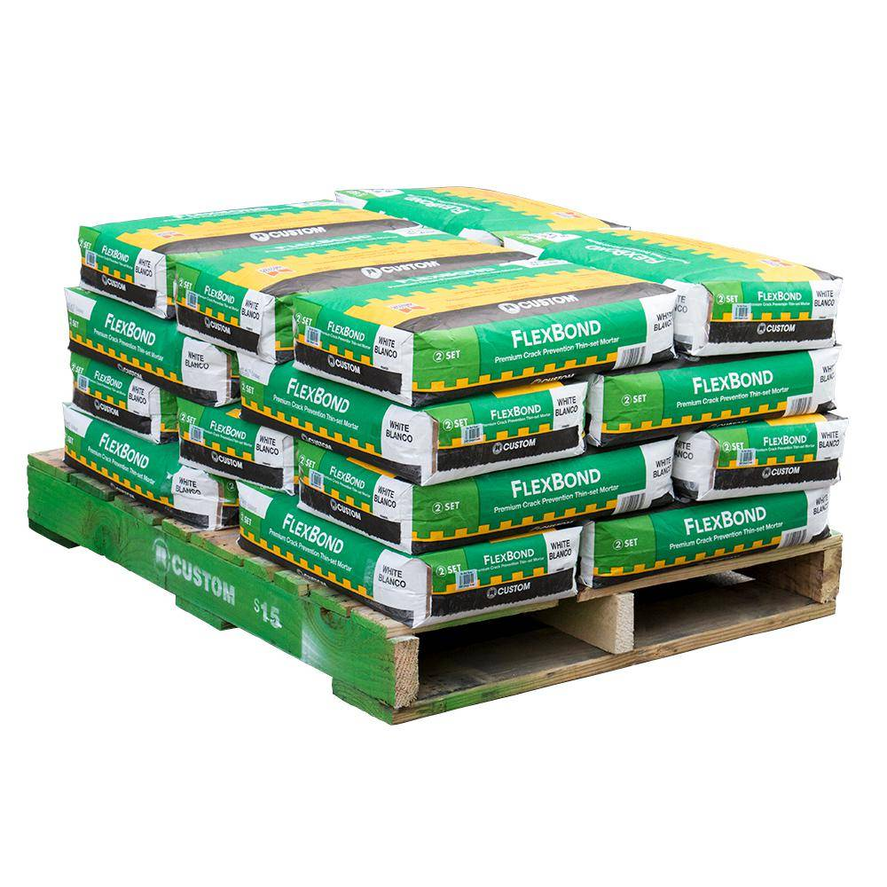 Custom Building Products FlexBond 50 lb. White Fortified Thinset Mortar (20 Bags / Pallet)