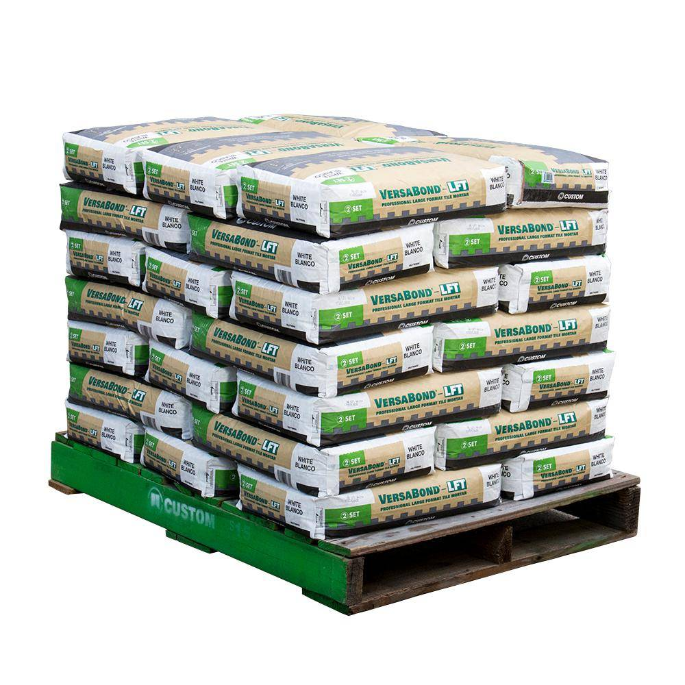 Custom Building Products VersaBond-LFT 50 lbs. White Fortified Medium Bed Mortar (35 Bags / Pallet)