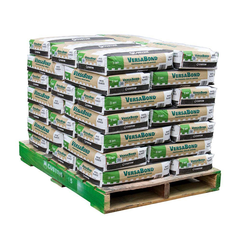 Custom Building Products VersaBond 50 lb. White Fortified Thinset Mortar (35 Bags / Pallet)