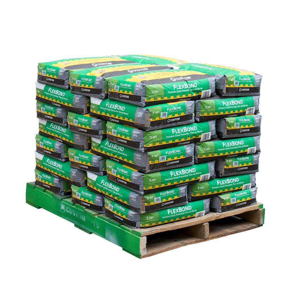 Custom Building Products FlexBond 50 lb. Gray Fortified Thinset Mortar (35 Bags / Pallet)