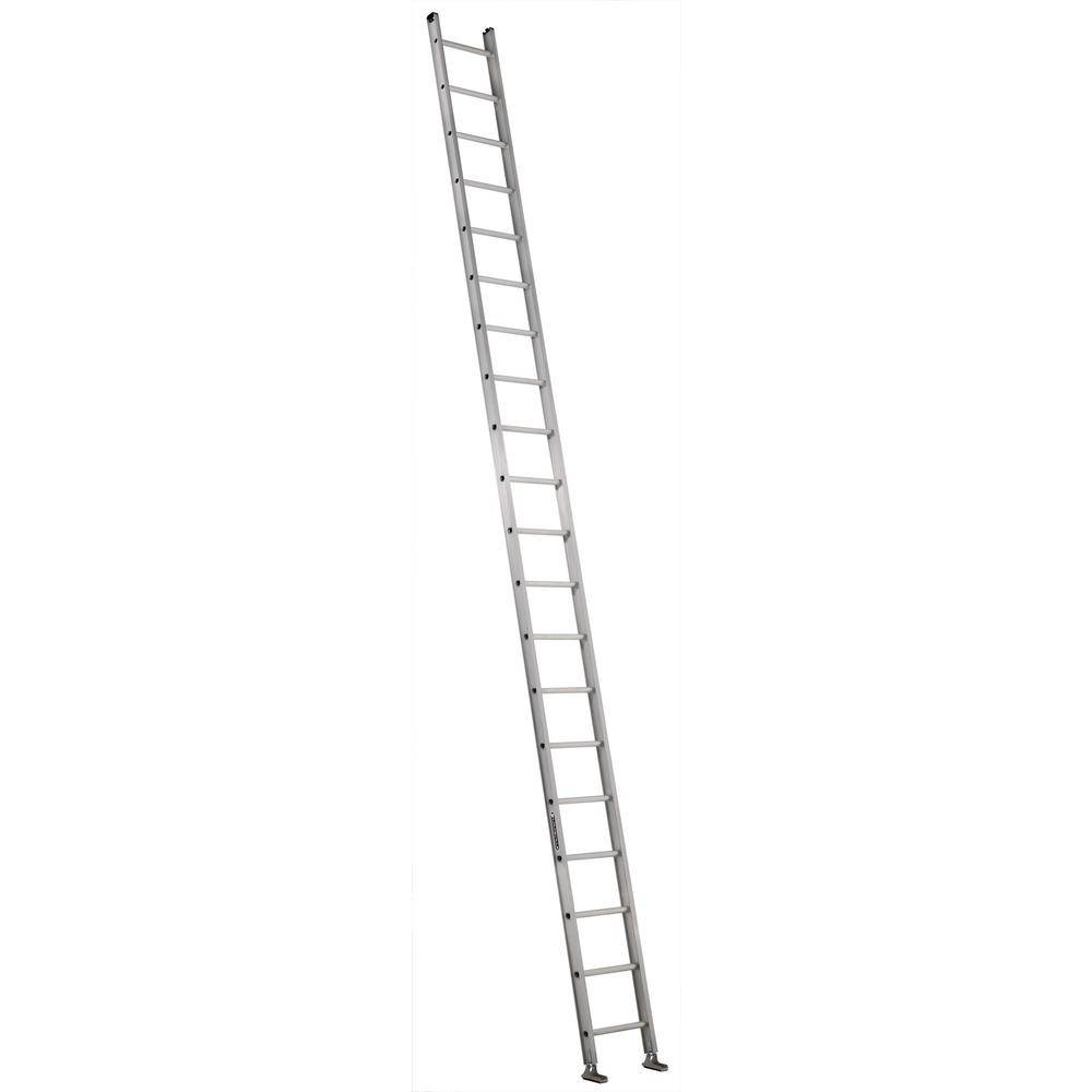 Louisville Ladder 20 ft. Aluminum Single Ladder with 300 lbs. Load Capacity Type IA Duty Rating