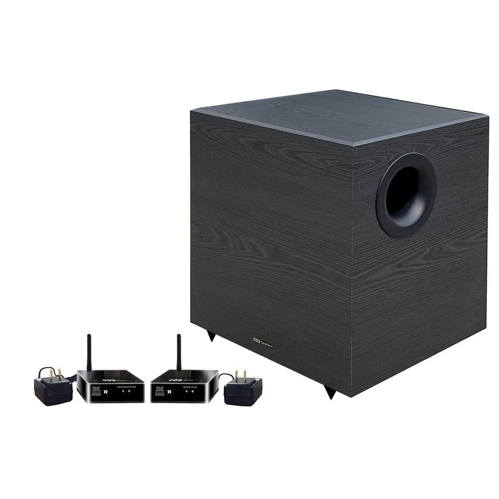BIC America Down-Firing Powered Subwoofer for Home Theater and Music with Wireless Transmitter