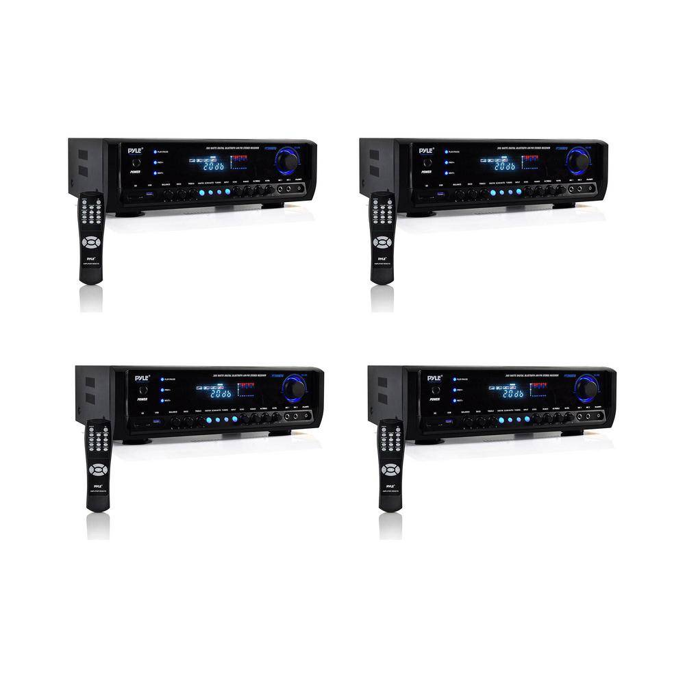 Pyle 300-Watt Bluetooth Wireless Stereo Speaker Receiver for Digital Home Theaters (4-Pack)