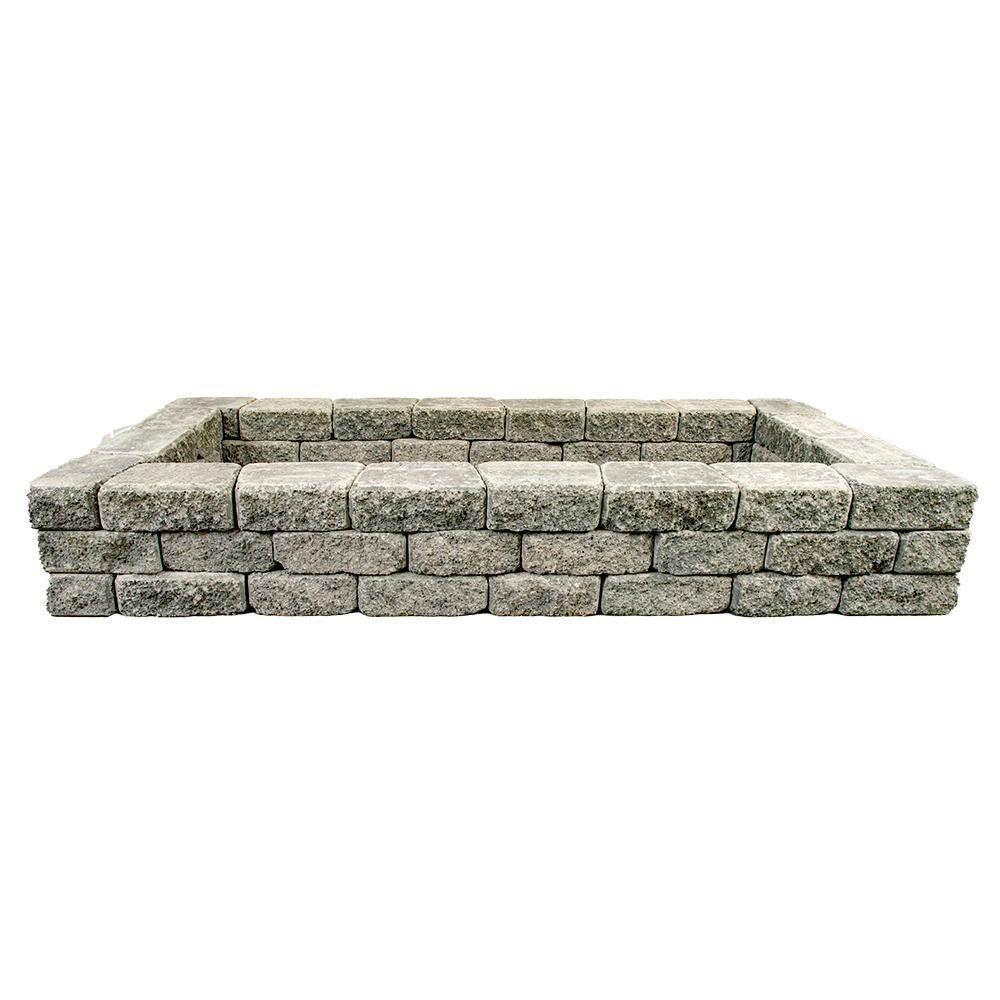 Mutual Materials RomanStack 83 in. x 39 in. x 12 in. Northwest Blend Concrete Raised Garden Bed