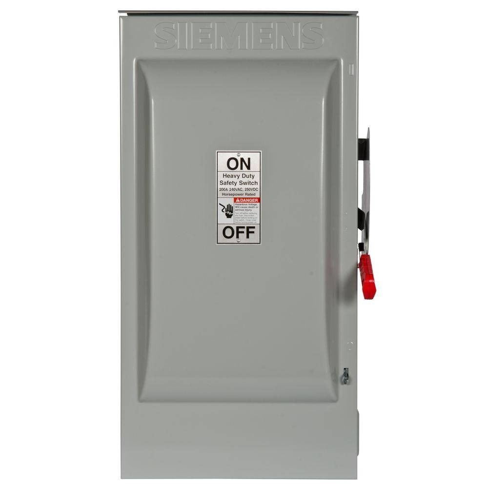 Siemens Heavy Duty 200 Amp 240-Volt 2-Pole Outdoor Fusible Safety Switch