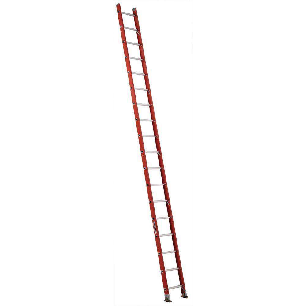 Louisville Ladder 18 ft. Fiberglass Single Ladder with 300 lbs. Load Capacity Type IA Duty Rating