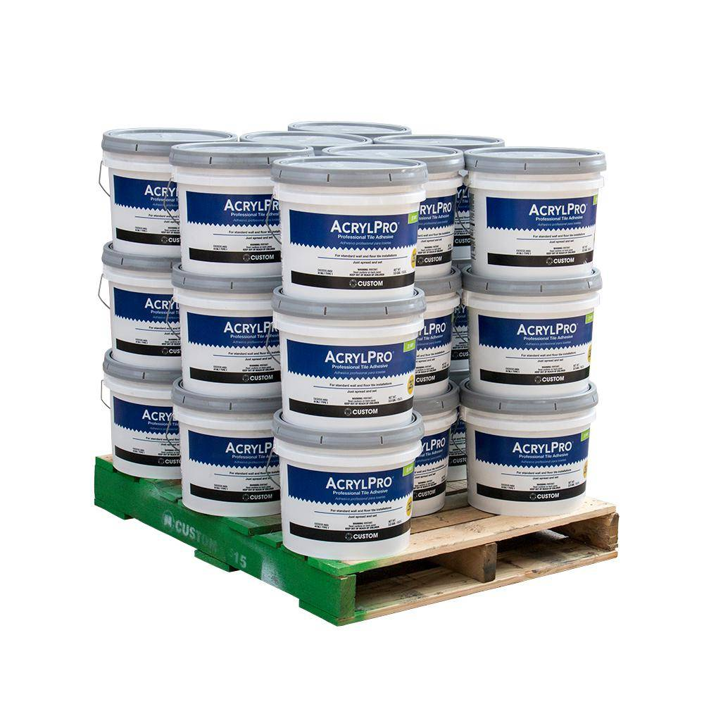 Custom Building Products AcrylPro 3.5 Gal. Ceramic Tile Adhesive (24 buckets/ pallet)