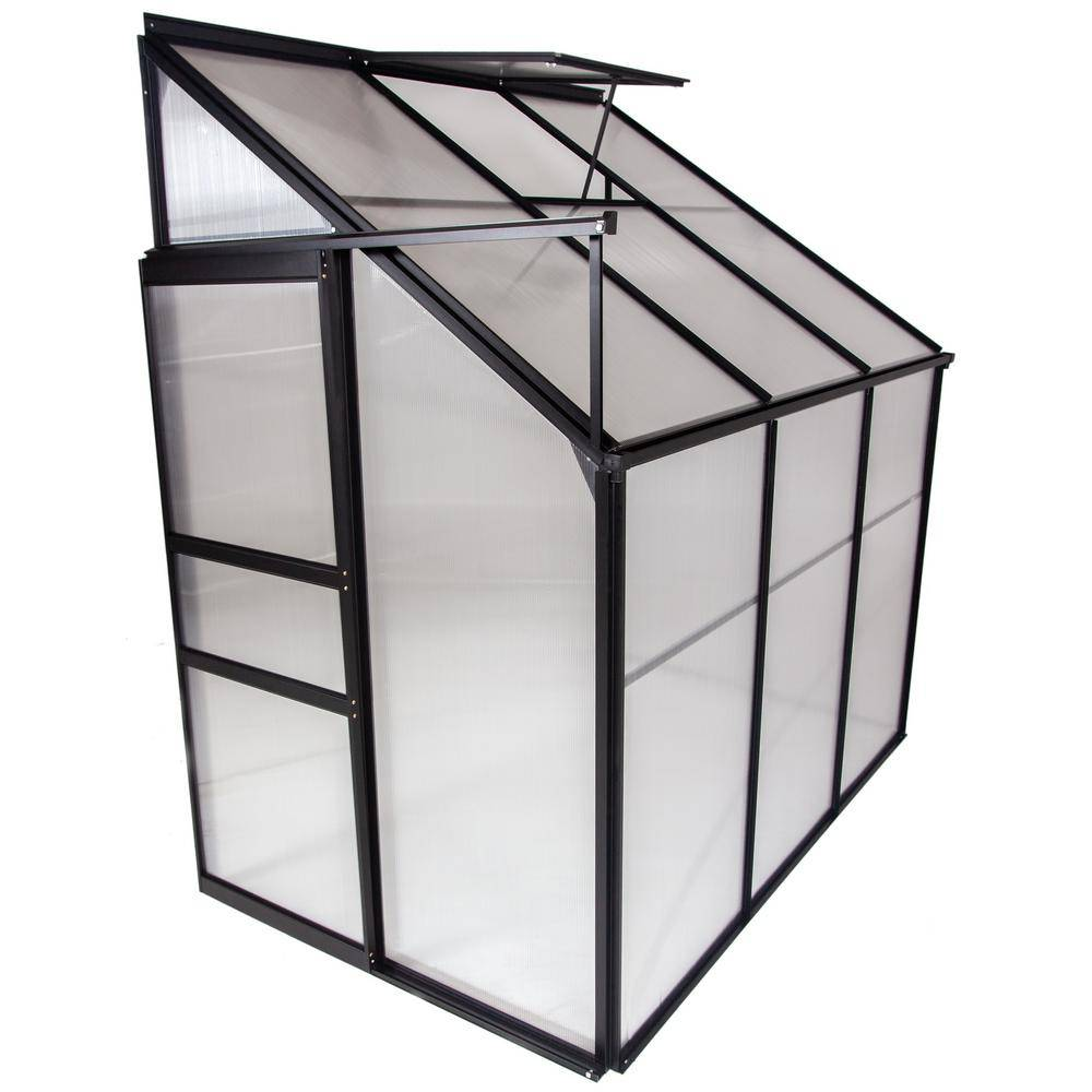 Ogrow 4 ft. x 6 ft. Portable Lean-To Greenhouses for Outdoors Sunroom House for Plants