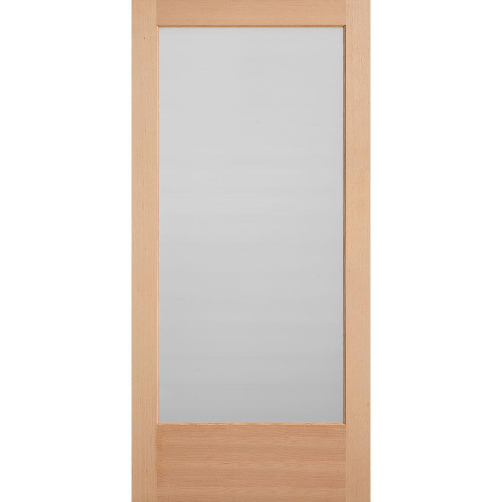 Masonite 40 in. x 84 in. Unfinished Fir Veneer 1-Lite Solid Wood Interior Barn Door Slab