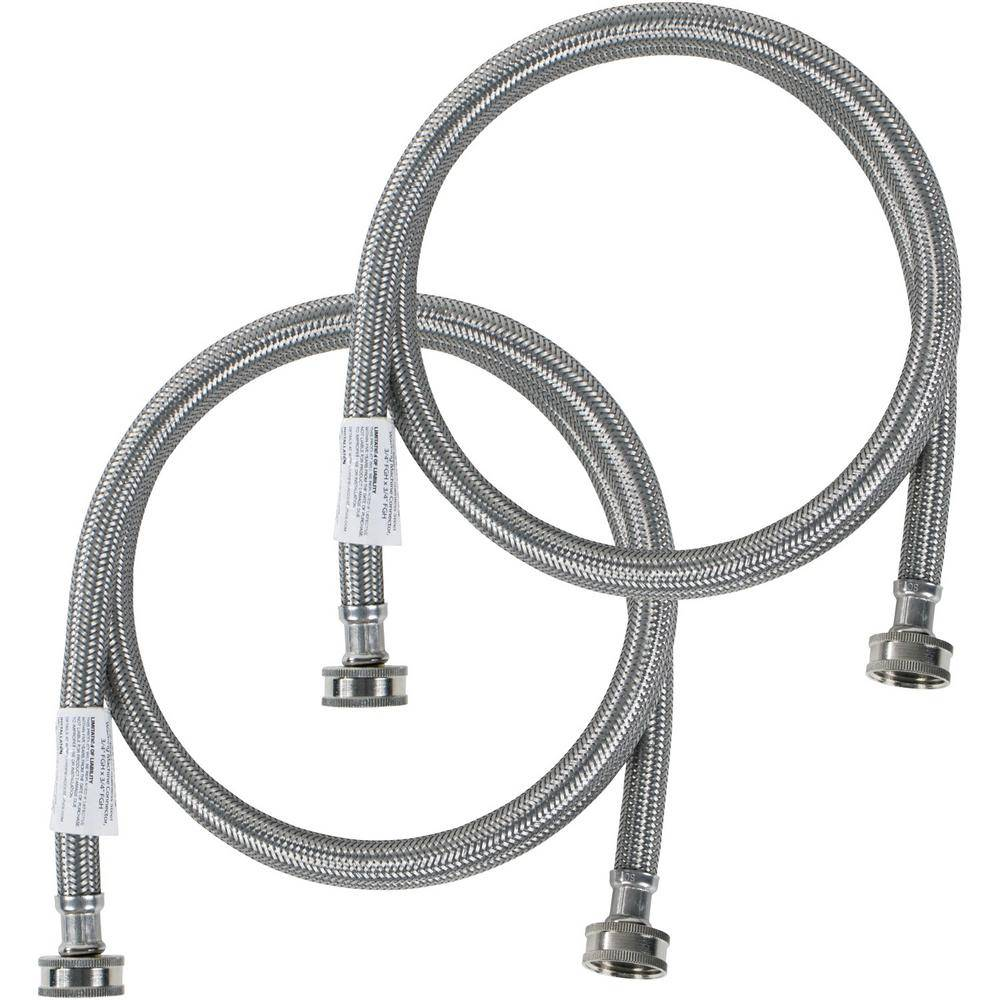 CERTIFIED APPLIANCE ACCESSORIES 5 ft. Braided Stainless Steel Washing Machine Hoses (40-Pack)