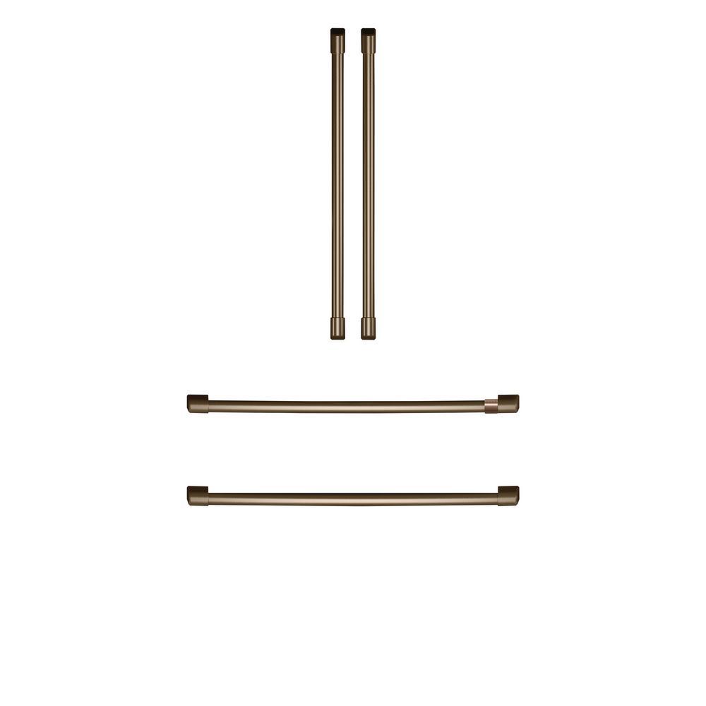 Cafe Refrigerator Handle Kit in Brushed Bronze