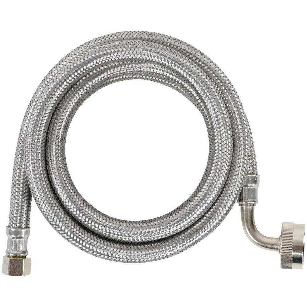 CERTIFIED APPLIANCE ACCESSORIES 6 ft. Braided Stainless Steel Dishwasher Connector with Elbow (40-Pack)