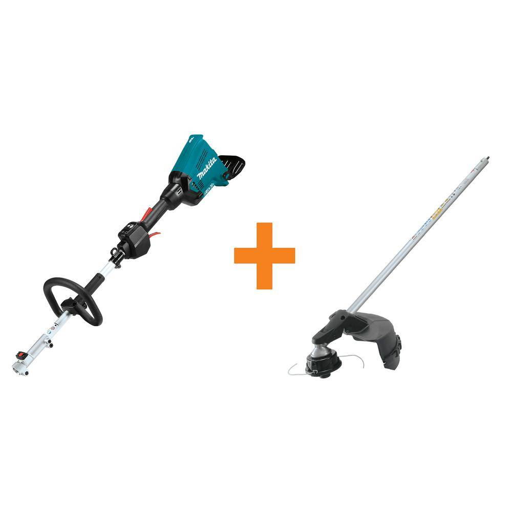Makita 18-Volt X2 (36-Volt) LXT Lithium-Ion Brushless Cordless Couple Shaft Power Head, Tool-Only and Brush Cutter Attachment