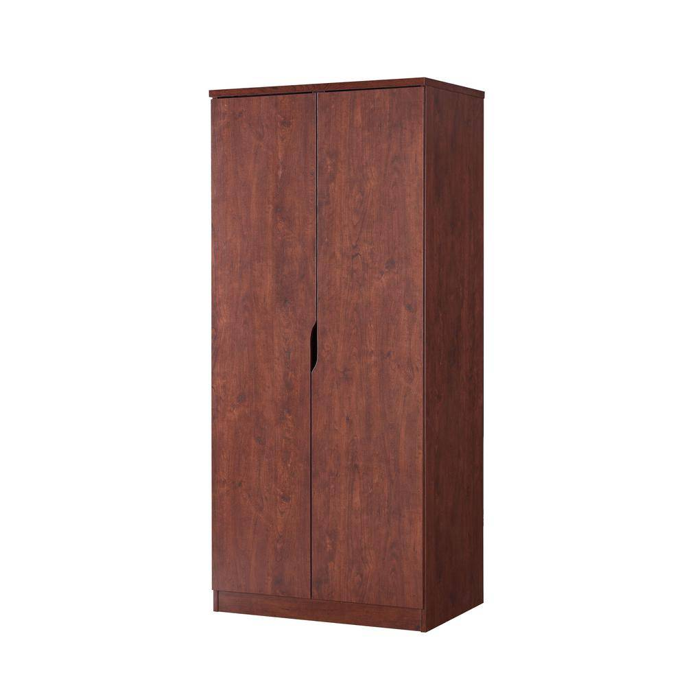 Furniture of America Alwin Vintage Walnut Wardrobe Armoire With Hanging Clothes Rod And 1-Shelf