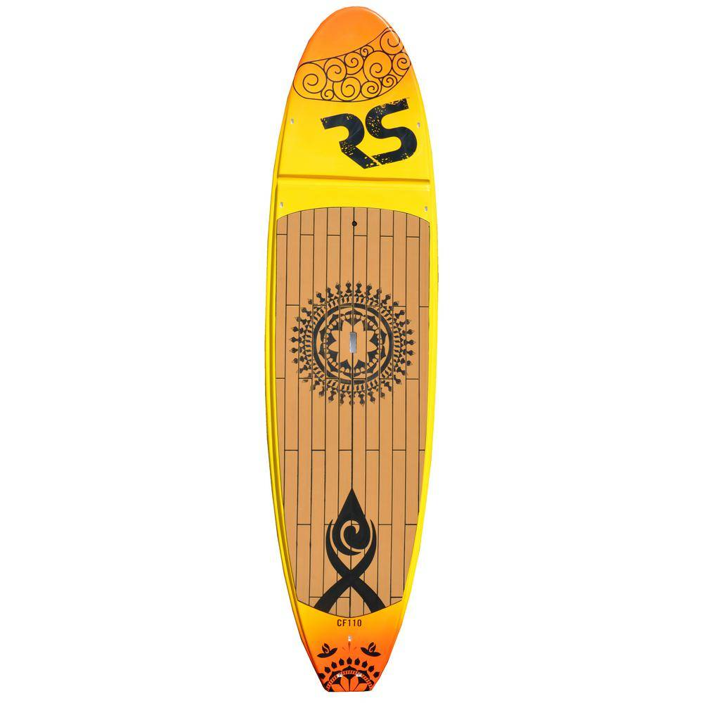 RAVE Sports Core Crossfit Stand Up Paddle Board for Yoga and Cross-training in Sunset Gold