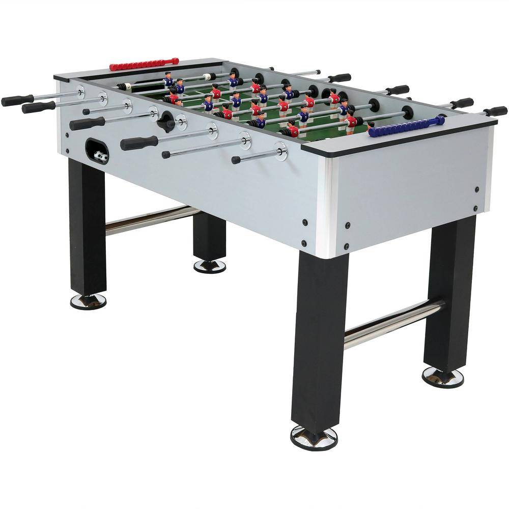 Sunnydaze Decor 55 in. Metallic Foosball Arcade Soccer Sports Table