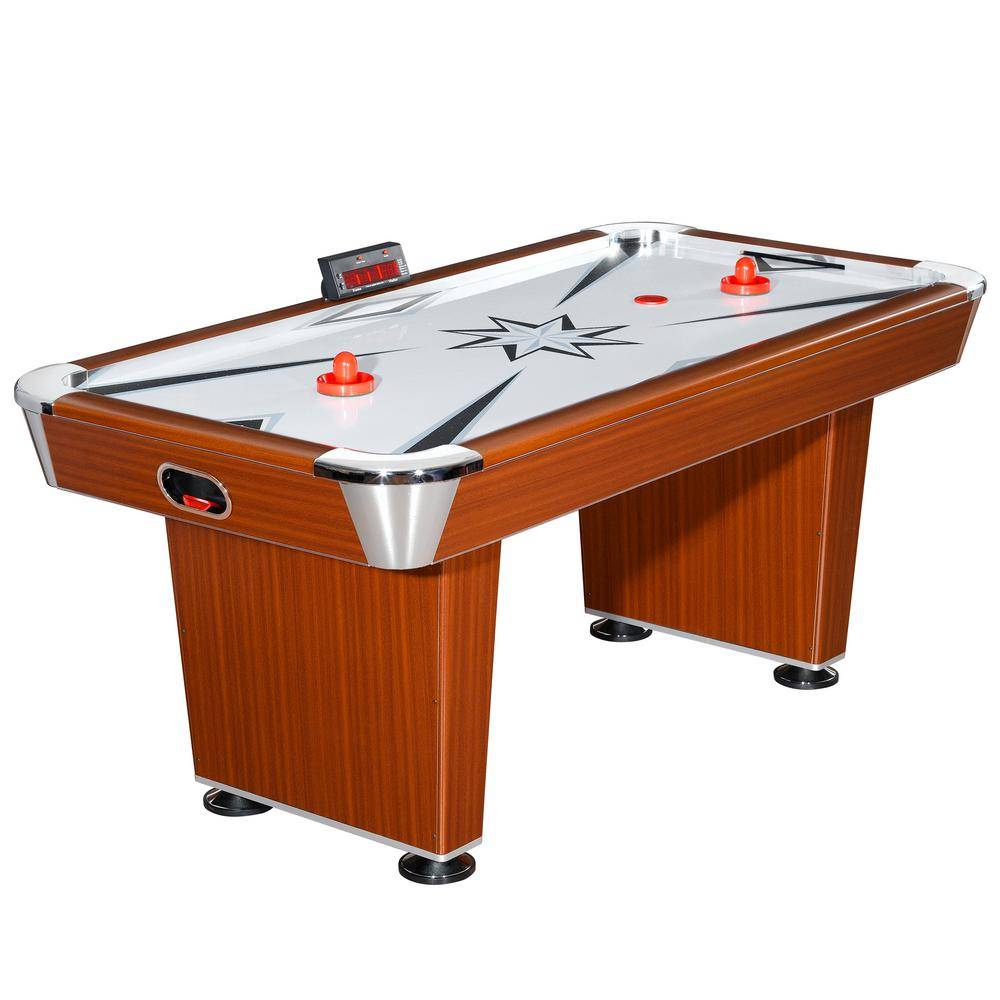 Hathaway Midtown 6 ft. Air Hockey Family Game Table w/ Electronic Scoring, High-Powered Blower, Strikers and Pucks
