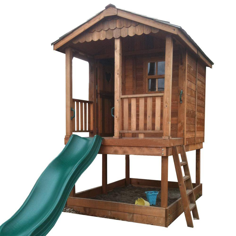 Outdoor Living Today 6 ft. x 9 ft. Sunflower Playhouse with Sandbox