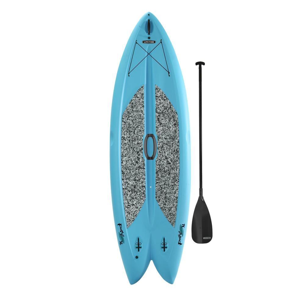 Lifetime Freestyle 9 ft. 8 in. L x 35.5 in. W x 6 in. T Multi-Sport Paddle Board in Glacier Blue