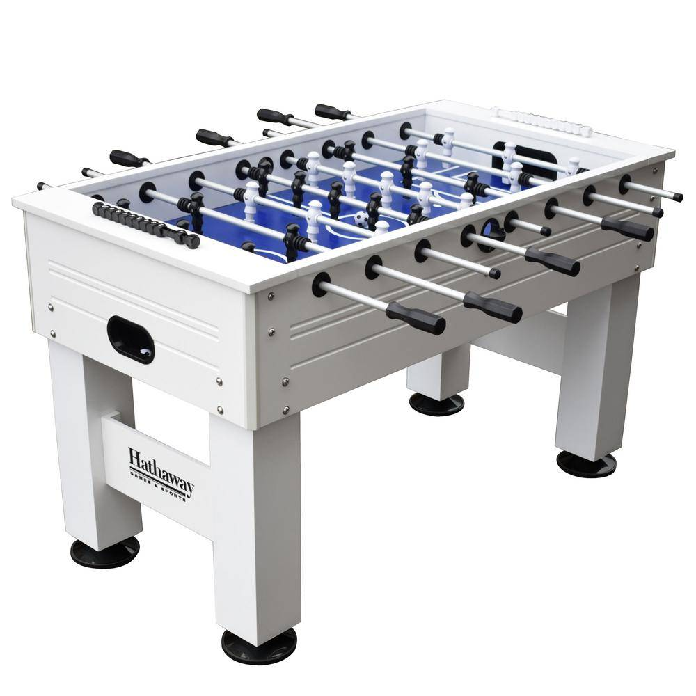 Hathaway Highlander 55 in. Outdoor Foosball Table with Waterproof Surface Anti-Rust Rods Ergonomic Handles and Analog Scoring