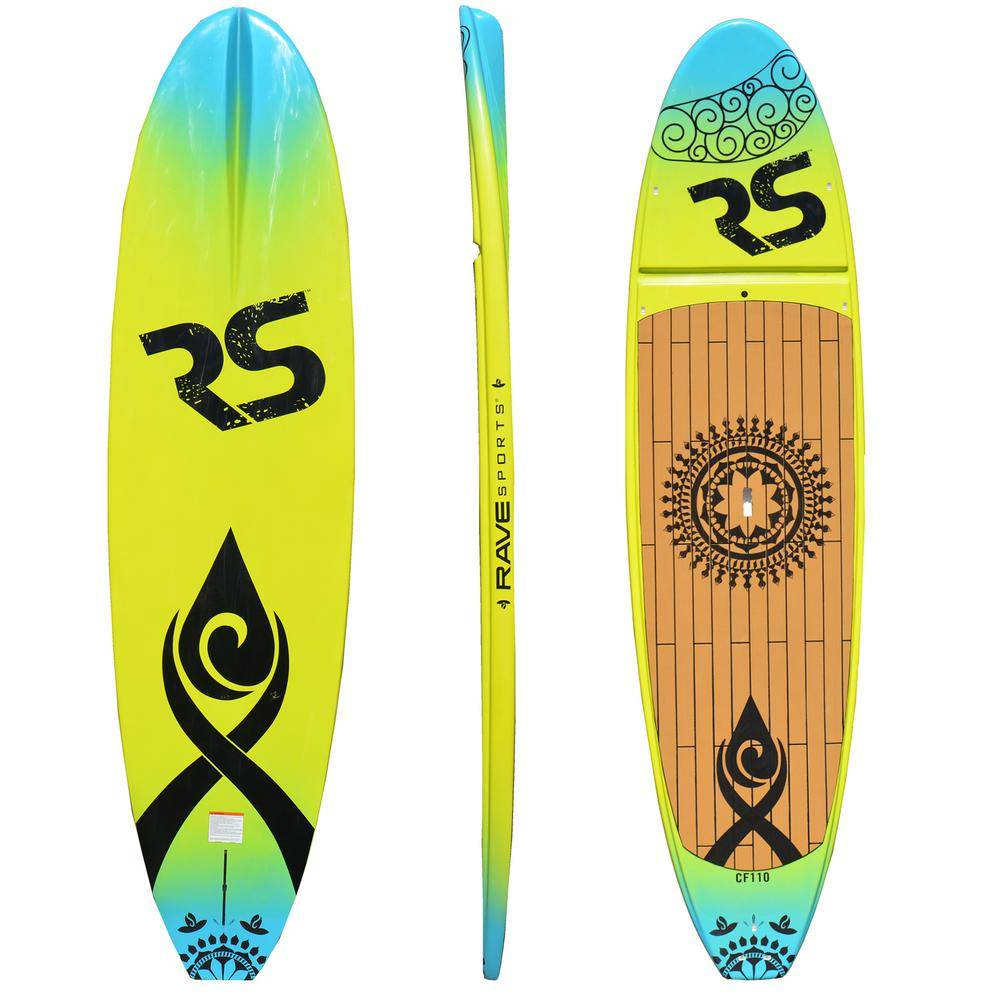 RAVE Sports Core Crossfit Stand Up Paddle Board for Yoga and Cross-training in Eco-green/Blue