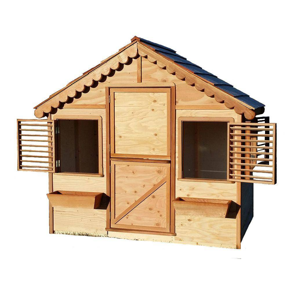 Canadian Playhouse Factory 4 ft. x 6 ft. Little Alexandra's Cottage Playhouse Kit with Cedar Roof