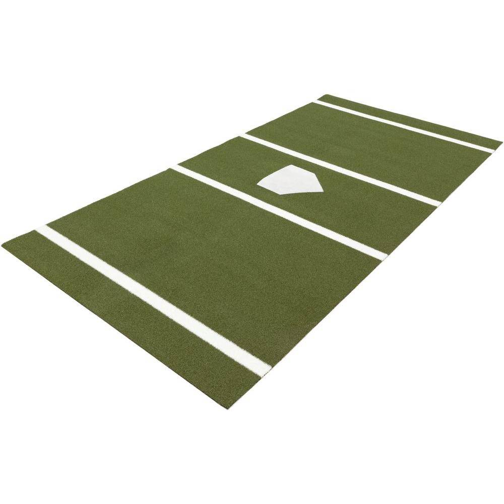 DuraPlay 6 ft. x 12 ft. Home Plate Mat in Green for Baseball