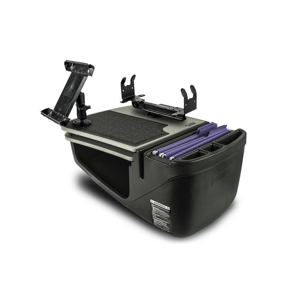 AutoExec Gripmaster with Built-In Power Inverter Tablet Mount and Printer Stand Gray