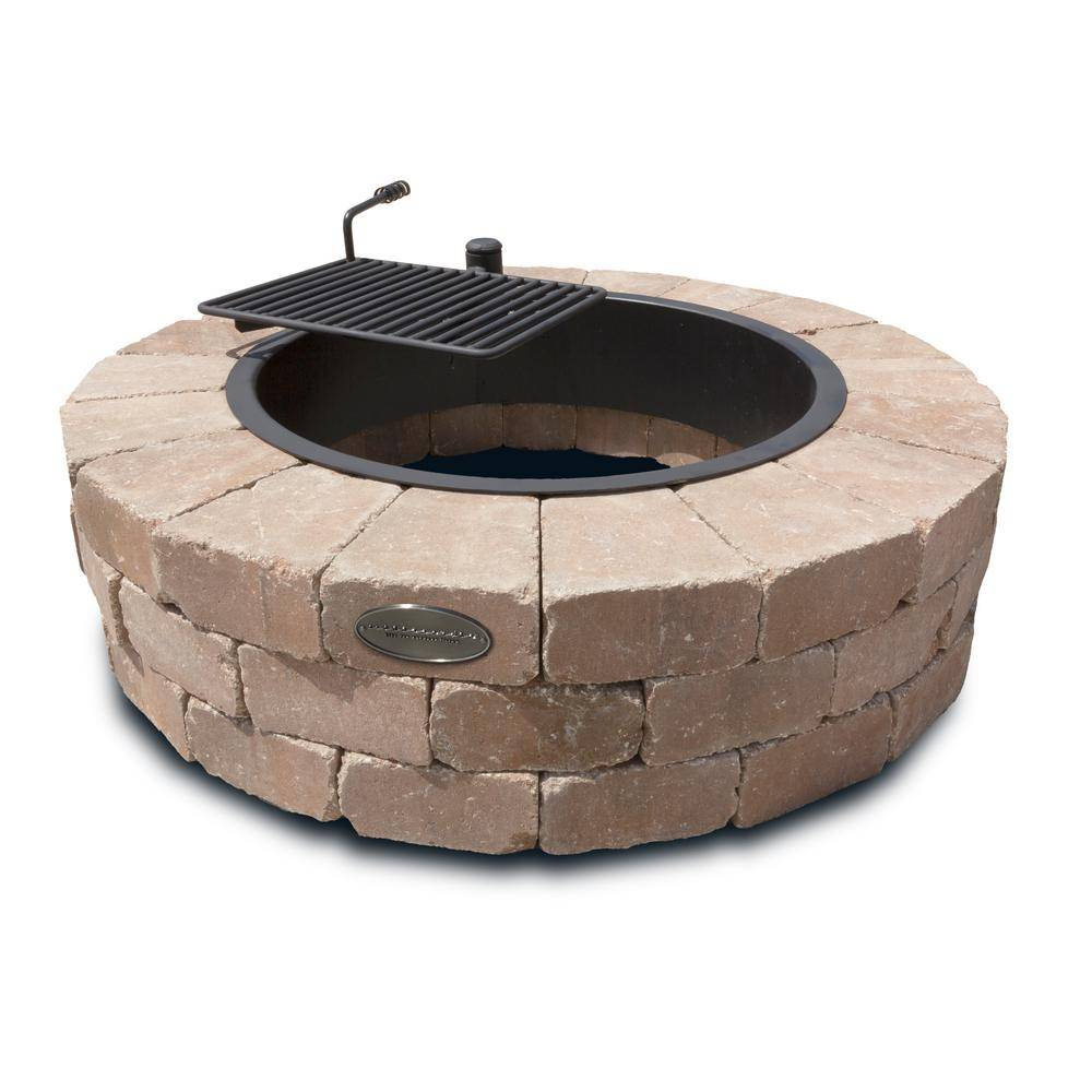 Necessories Grand 48 in. Fire Pit Kit in Desert with Cooking Grate