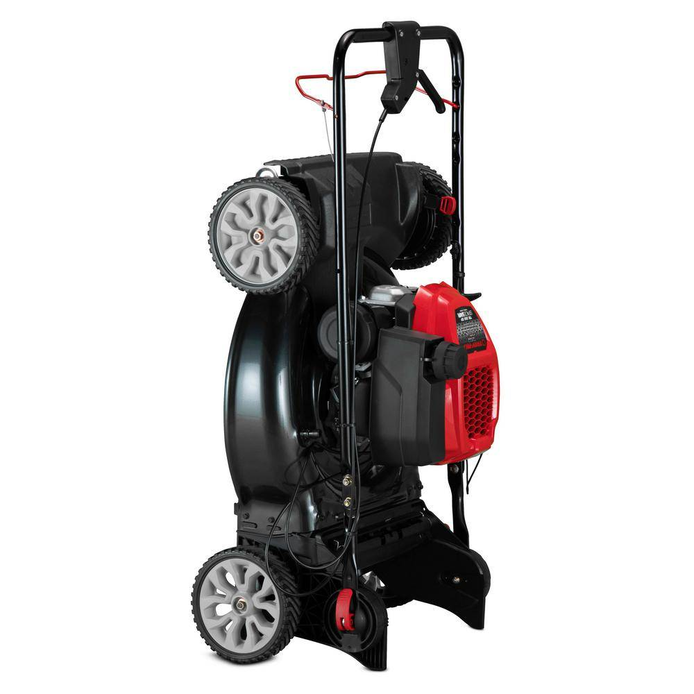 Troy-Bilt XP 21 in. 149 cc Gas Vertical Storage Walk Behind Self Propelled Lawn Mower with 3-in-1 TriAction Cutting System
