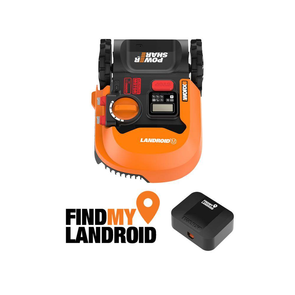 Worx POWER SHARE 20-Volt 7 in. Robotic Landroid Mower, Brushless Wheel Motors, Wifi Plus Phone App with GPS Module Included