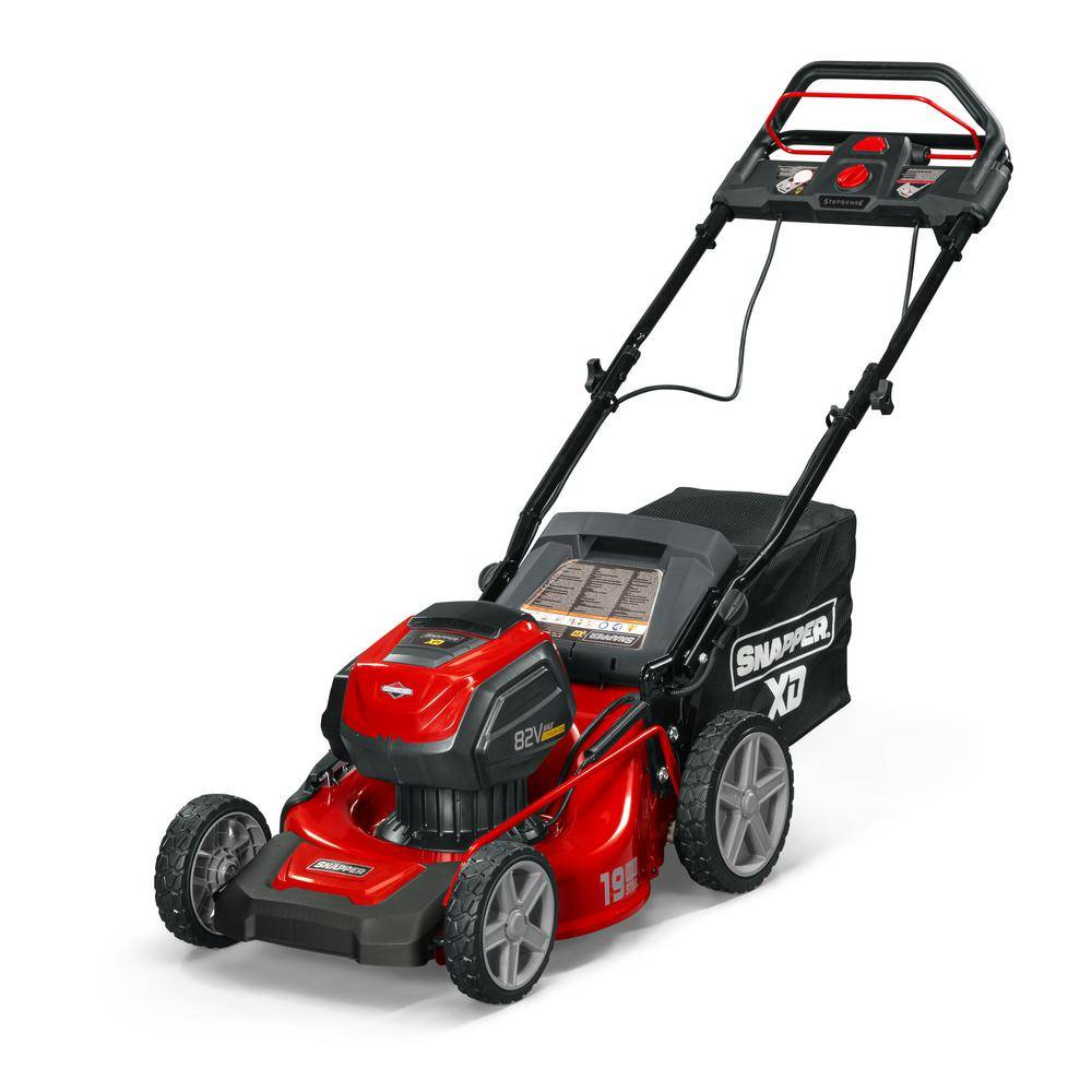 Snapper XD 19 in. 82-Volt Lithium-Ion Cordless Battery Step Sense Walk Behind Self Propelled Mower with 2.0 Battery and Charger