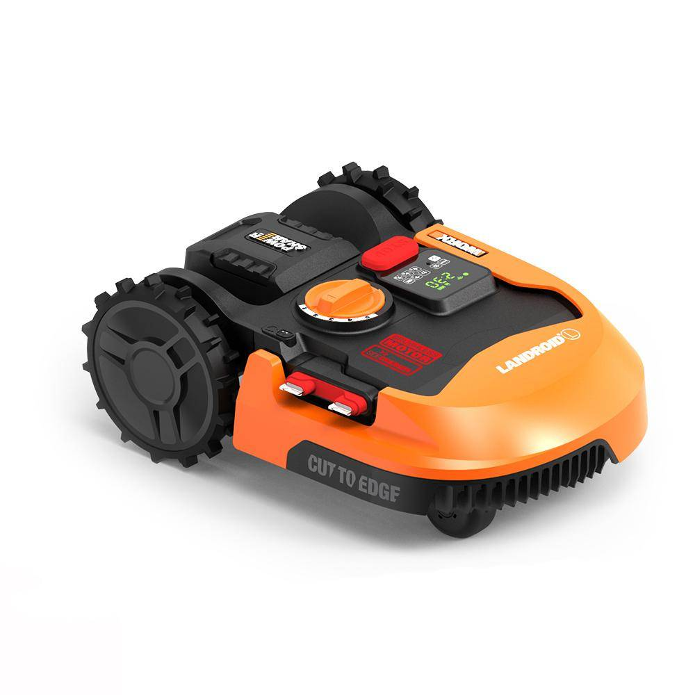 Worx POWER SHARE 20-Volt 7 in. 4.0 Ah Lithium-Ion Robotic Landroid M Mower, Brushless Wheel Motors, Wifi Plus Phone App