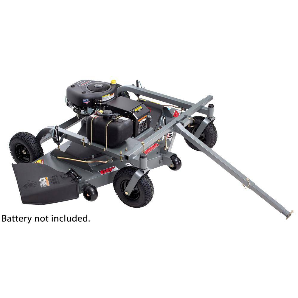 Swisher 60 in. 14.5-HP 500 cc Briggs & Stratton Electric Start Trail Commercial Pull-Behind Finish Cut Lawn Mower