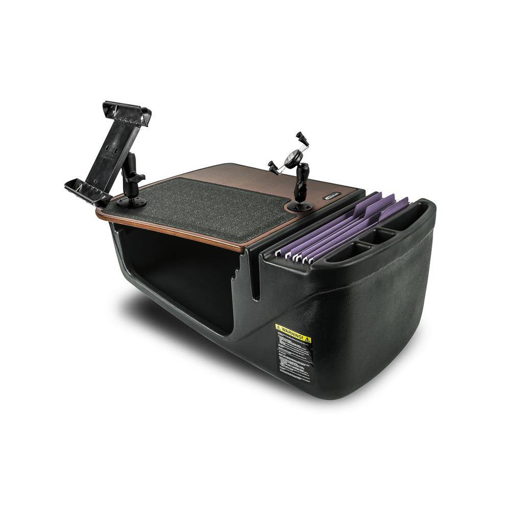 AutoExec Efficiency GripMaster Mahogany with Built-in Power Inverter X-Grip Phone Mount and Tablet Mount