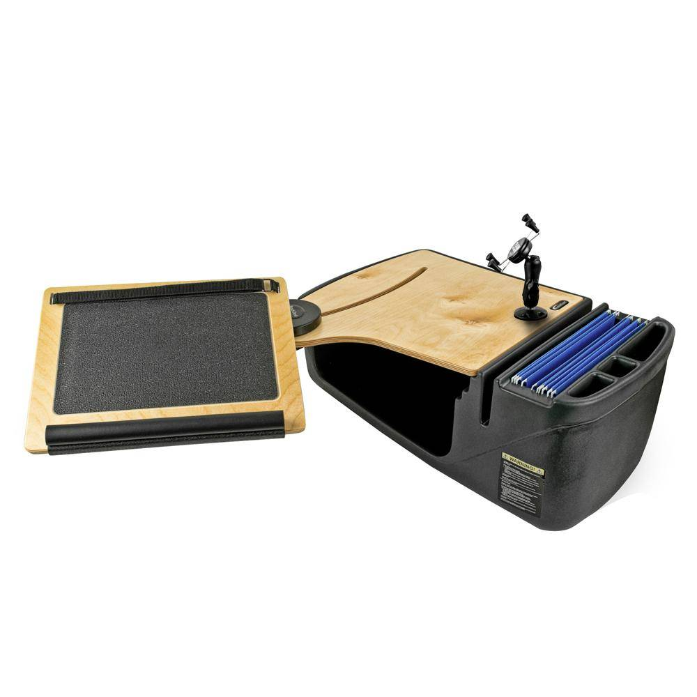AutoExec Reach Desk Front Seat Elite with Built-In Power Inverter and Phone Mount
