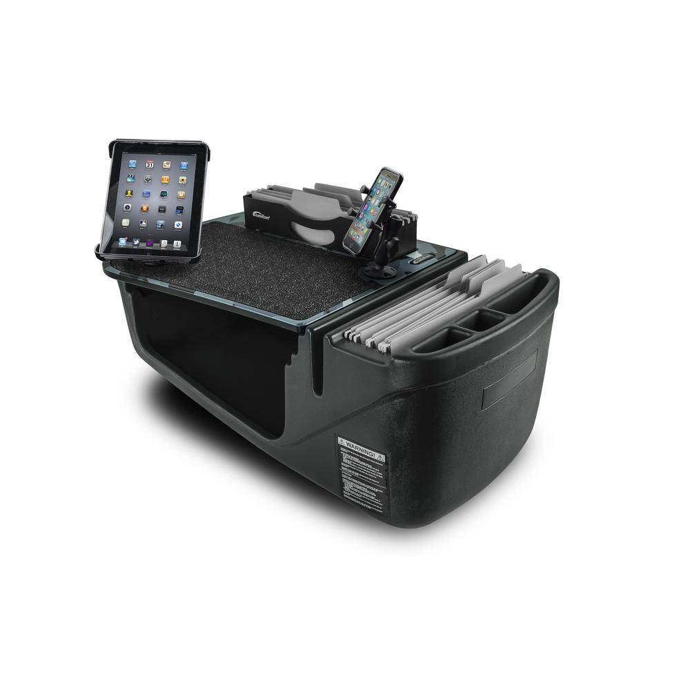 AutoExec Efficiency FileMaster Urban Camouflage Car Desk with X-Grip Phone Mount and Tablet Mount