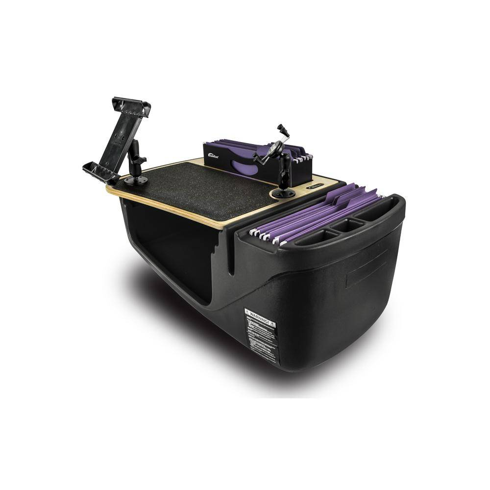 AutoExec Efficiency FileMaster Elite with Built-In Power Inverter, X-Grip Phone Mount and iPad/Tablet Mount