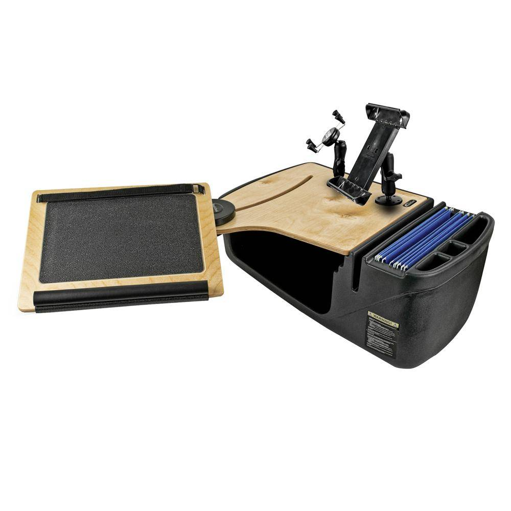 AutoExec Reach Desk Front Seat Elite with Built-in Power Inverter, X-Grip Phone Mount and iPad/Tablet Mount
