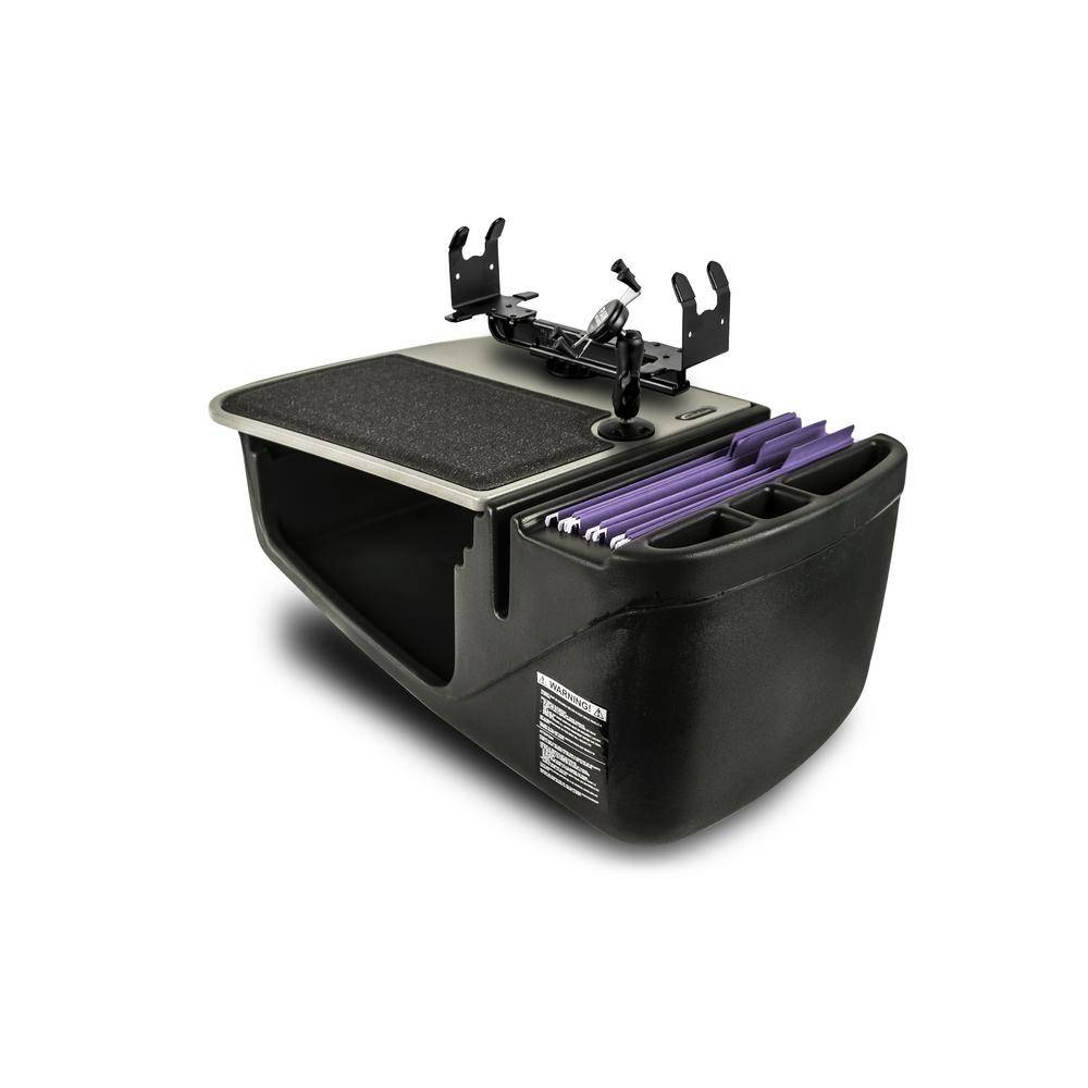 AutoExec Efficiency GripMaster with Built-in Power Inverter Printer Stand and X-Grip Phone Mount