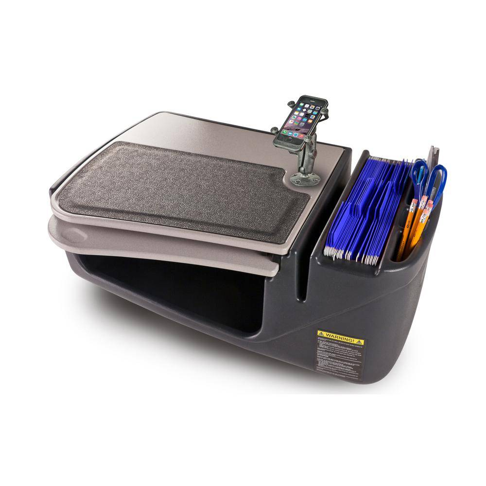 AutoExec GripMaster Car Desk with Built-in Power Inverter and Phone Mount