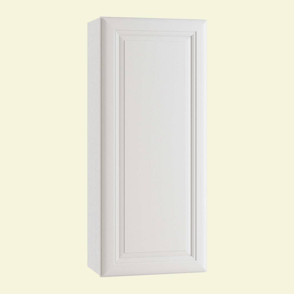 Home Decorators Collection Brookfield Assembled 27 x 42 x 12 in. Plywood Mitered Wall Kitchen Cabinet Soft Close in Painted Pacific White