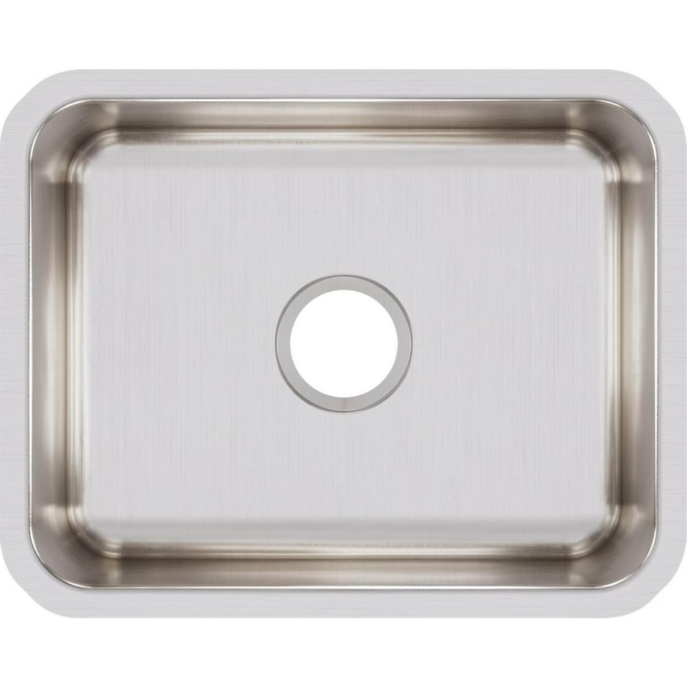 Elkay Lustertone Undermount Stainless Steel 21 in. Single Bowl Kitchen Sink, Silver